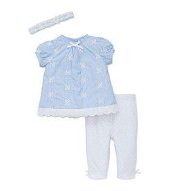 Little Me® Baby Girls' Striped Eyelet Tunic Set