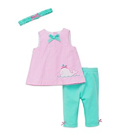 Little Me® Baby Girls' Whale Tunic Set