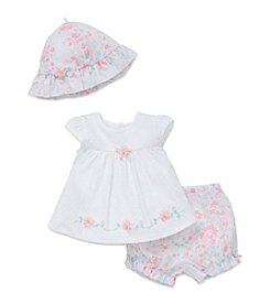 Little Me® Baby Girls' Shine Diaper Set and Hat