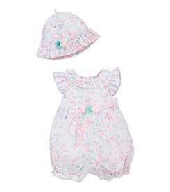 Little Me® Baby Girls' Bouquet Sunsuit and Hat