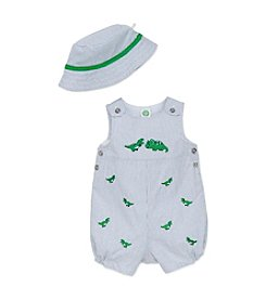 Little Me® Baby Boys' Dino Fun Sunsuit and Hat