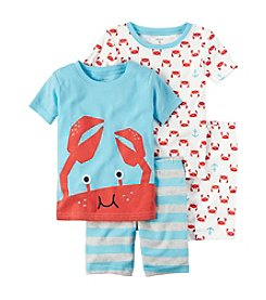 Carter's® Boys' 5-12 Crab 4-Piece Shirt And Bottom Set