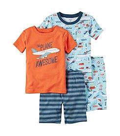 Carter's® Boys' 4-8 Awesome 4-Piece Shirt and Pants Pajama Set