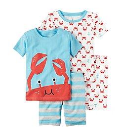 Carter's® Boys' 2T-7 Crab 4-Piece Pajama Set
