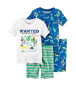 Carter's® Boys' 5-12 Wanted 4-Piece Pajama Set
