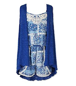 Speechless® Girls' 7-16 2-Piece Romper And Vest