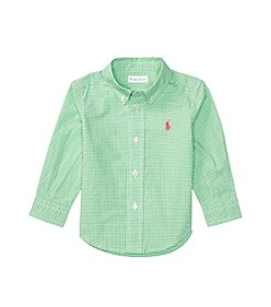 Ralph Lauren® Baby Girls' Striped Button Down Shirt