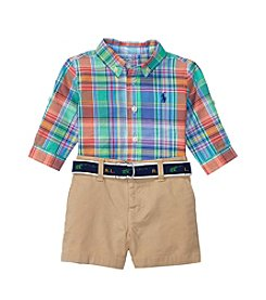 Polo Ralph Lauren® Baby Boys' Plaid Short Set
