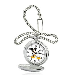 Disney® Mickey Mouse® Men's Silver Alloy Pocket Watch