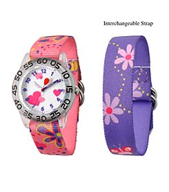 Red Balloon Girls' Plastic Time Teacher Watch