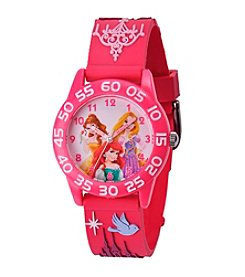 Disney® Princess Girls' 3D Pink Plastic Time Teacher Watch
