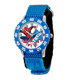 Marvel® Spider-Man® Boys' Stainless Steel Time Teacher Watch