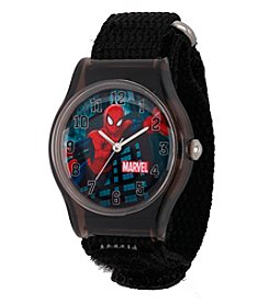 Marvel® Spider-Man® Boys' Black Plastic Watch
