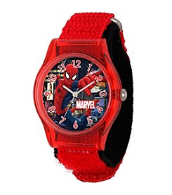 Marvel® Spider-Man® Boys' Red Plastic Watch