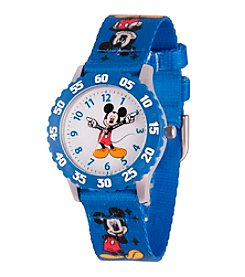 Disney® Mickey Mouse® Kids' Stainless Steel Time Teacher Watch