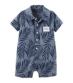 Carter's® Baby Boys' Printed Chambray Romper