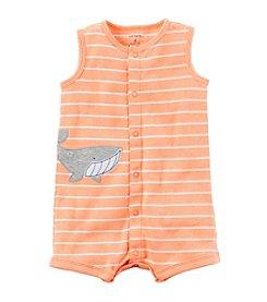 Carter's® Baby Boys Striped Shark Creeper