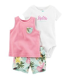 Carter's® Baby Girls' 3-Piece Tank Set With Printed Shorts