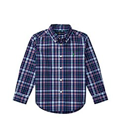 Polo Ralph Lauren® Boys' 2T-7 Long Sleeve Button-Down Plaid Shirt