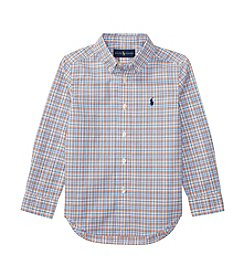 Polo Ralph Lauren® Boys' 2T-7 Poplin Long Sleeve Button-Down Shirt