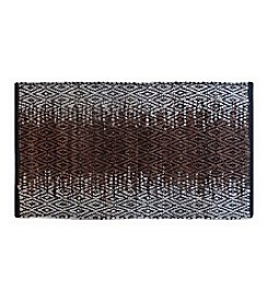 LivingQuarters Handmade Faded 100% Recycled Leather Accent Rug