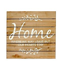 Fetco® Home Hearts Stay Wood Wall Art