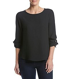 Nine West® Roll Up Sleeve Top