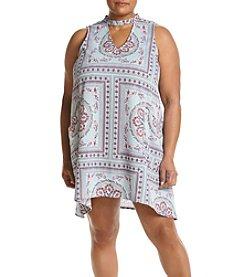 Living Doll® Plus Size Print Swing Dress