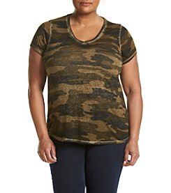 Lucky Brand® Plus Size Camouflage Tee