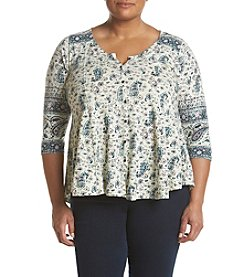 Lucky Brand® Plus Size Paisley Swing Top