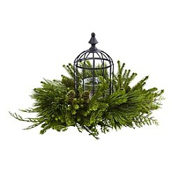 Nearly Natural® Mixed Pine Birdhouse Candelabrum