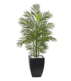 Nearly Natural® 4.5' Indoor/Outdoor Areca Palm Tree with Black Wash Planter