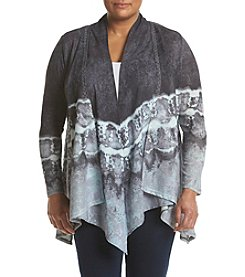Oneworld® Plus Size Sharkbite Swing Cardigan