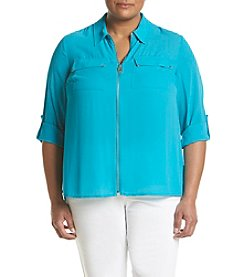 MICHAEL Michael Kors® Plus Size Dog Tag Woven Blouse