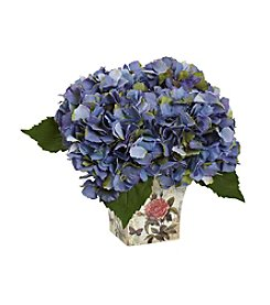 Nearly Natural® Hydrangea with Floral Planter