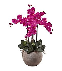 Nearly Natural® Phalaenopsis Orchid Arrangement with Bowl