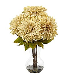 Nearly Natural Dahlia Arrangement