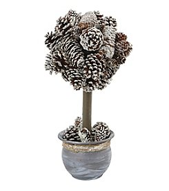 Nearly Natural® Snowy Pinecone Topiary