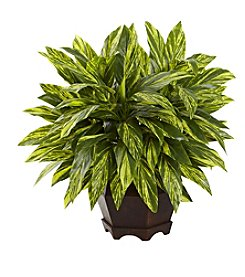 Nearly Natural® Tradescantia with Hexagon Planter