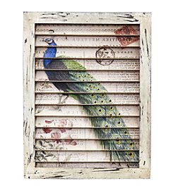 Nearly Natural® Peacock Window Shutter Wall Decor