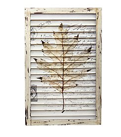 Nearly Natural® Maple Leaf Window Shutter Wall Decor