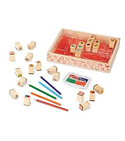 Melissa & Doug® Wooden Favorite Things Stamp Set