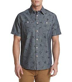 Ruff Hewn Men's Short Sleeve Duck Print Workshirt