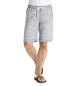 Hollywood the Jean People Men's Isaac Yarn Dye Stripe Elastic Shorts
