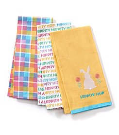 LivingQuarters Hippity Hop 3-Pk. Kitchen Towels