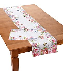 LivingQuarters Floral Table Linen Collection