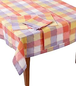 LivingQuarters Dobby Table Linens