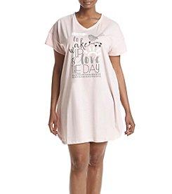 HUE® Plus Size Wakey Wakey Sleepshirt