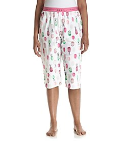 HUE® Plus Size Pineapple Dot Capri Pajama Pants