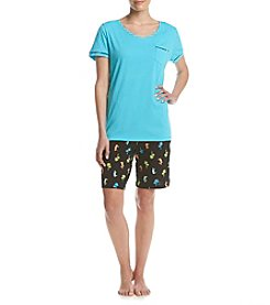 Intimate Essentials® Tropical Bermuda Pajama Set